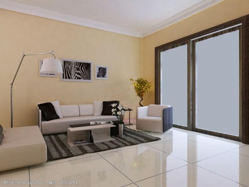 現代簡約客廳裝修效果圖