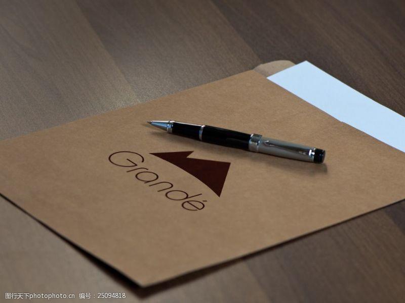 信封logo樣機展示