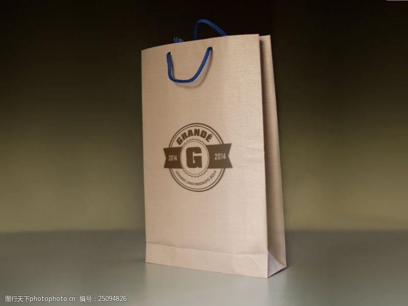 紙袋包裝logo樣機展示