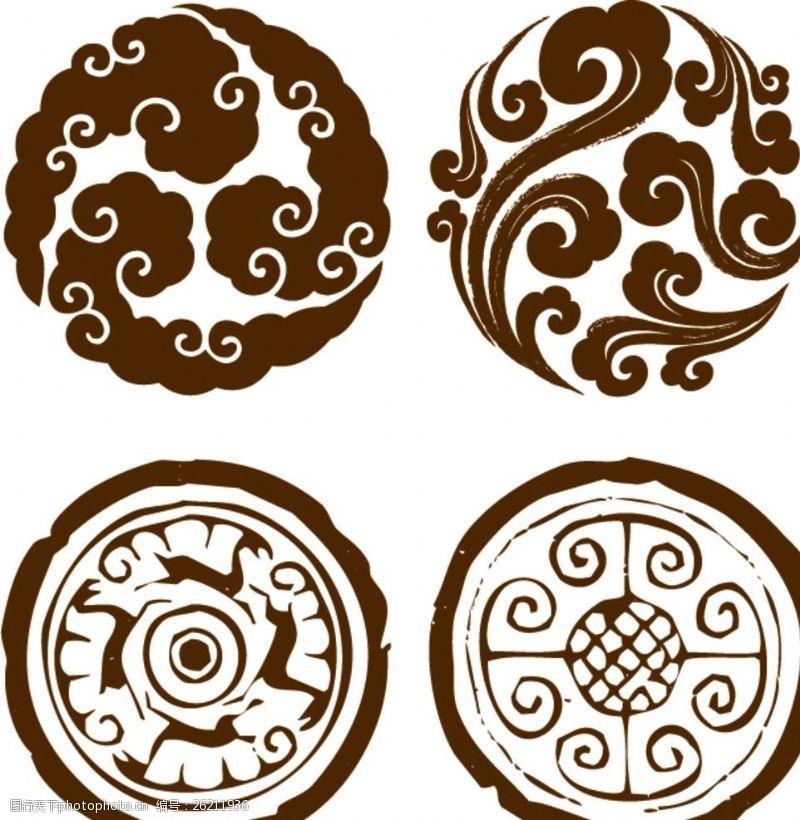 圆形客厅v圆形图标图片素材简约矢量装修设计理念图片