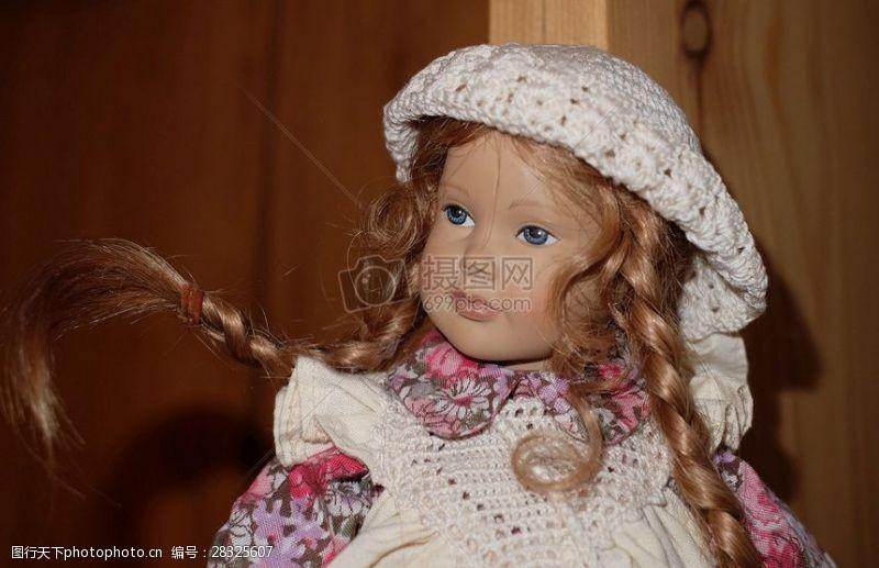 特寫鏡頭下的的洋娃娃