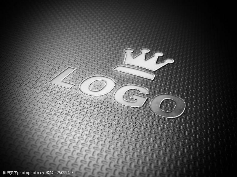 不銹鋼紋理logo樣機展示