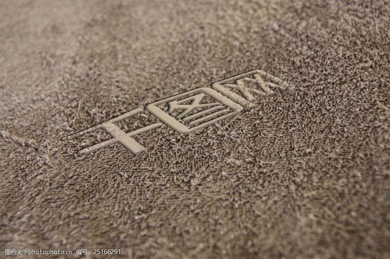 地毯logo樣機展示