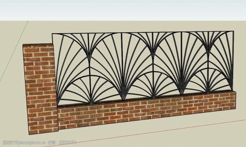 铁艺围墙设计