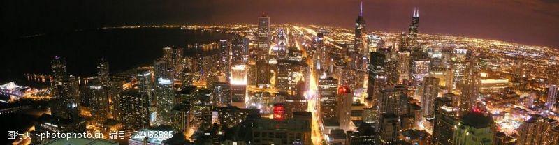 芝加哥夜景芝加哥全景