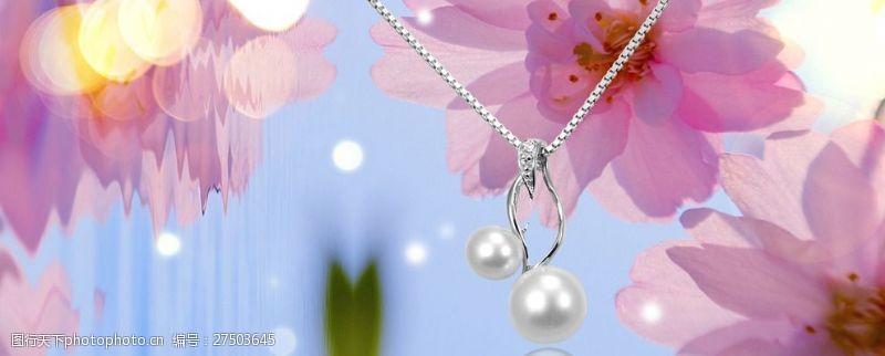 珠宝招贴画项链广告