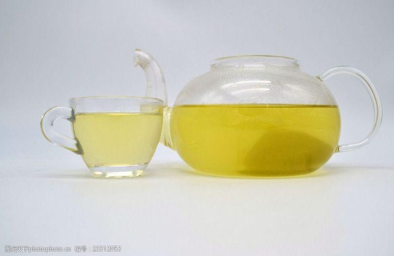 茶组合茶杯清茶图苦荞茶大麦茶