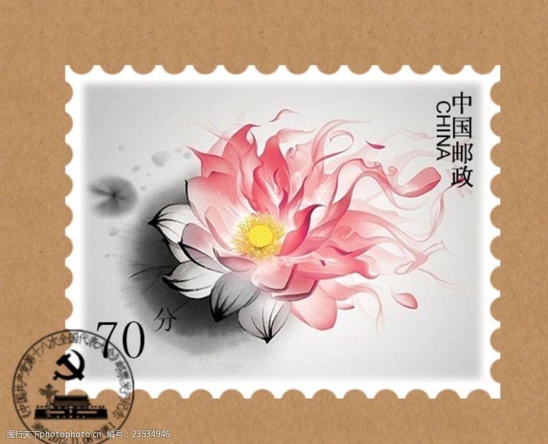 中国风邮票背景