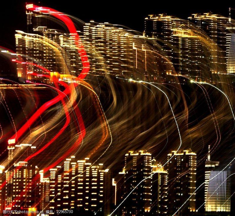 城市流光背景