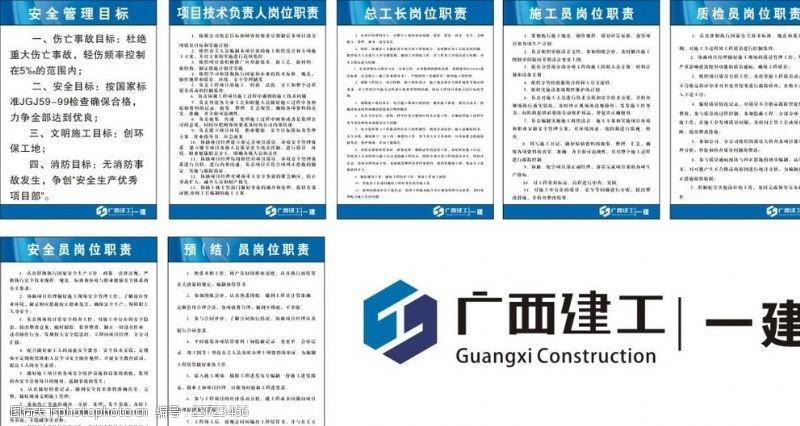 广西建工标志建筑工地安全制度牌