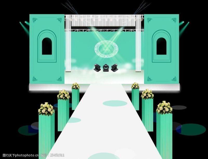 欧式舞台婚礼舞台布置