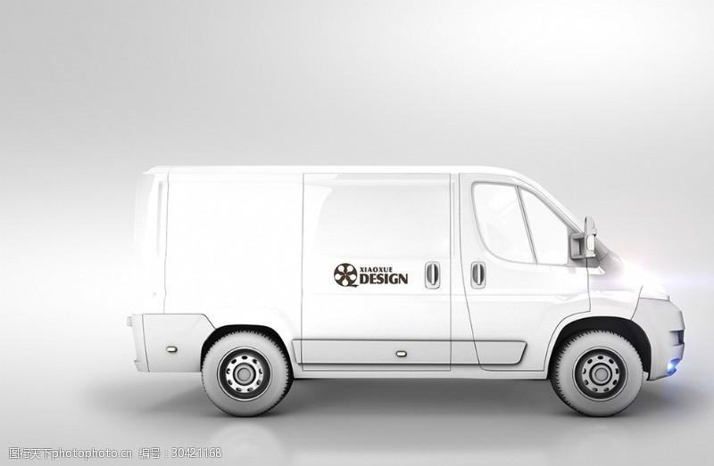 白色大型小货车模板