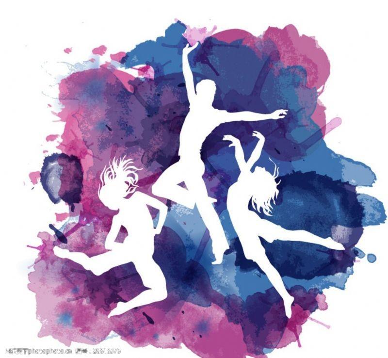 青春公益海报舞蹈人物