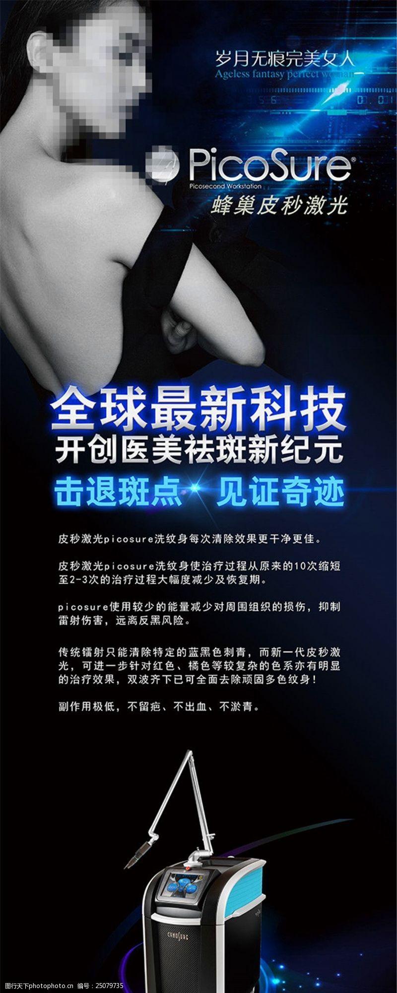 皮秒激光祛斑广告海报