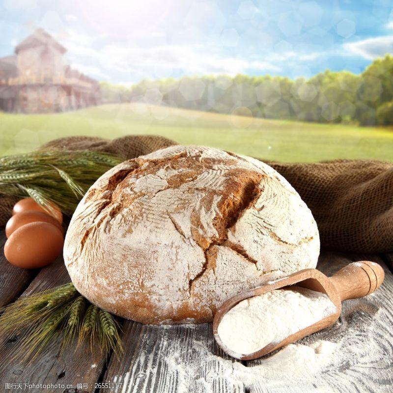 面包图片素材下载烤全麦面包图片