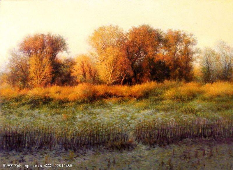 圣安德鲁斯油画风景黄树林