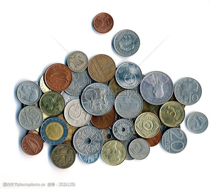 世界银行各式各样的硬币