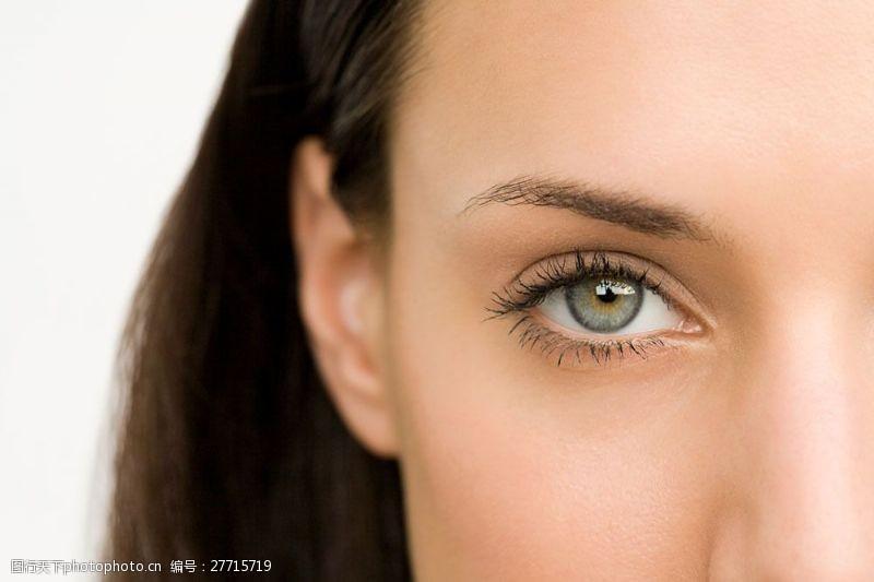 外国美女眼部特写图片