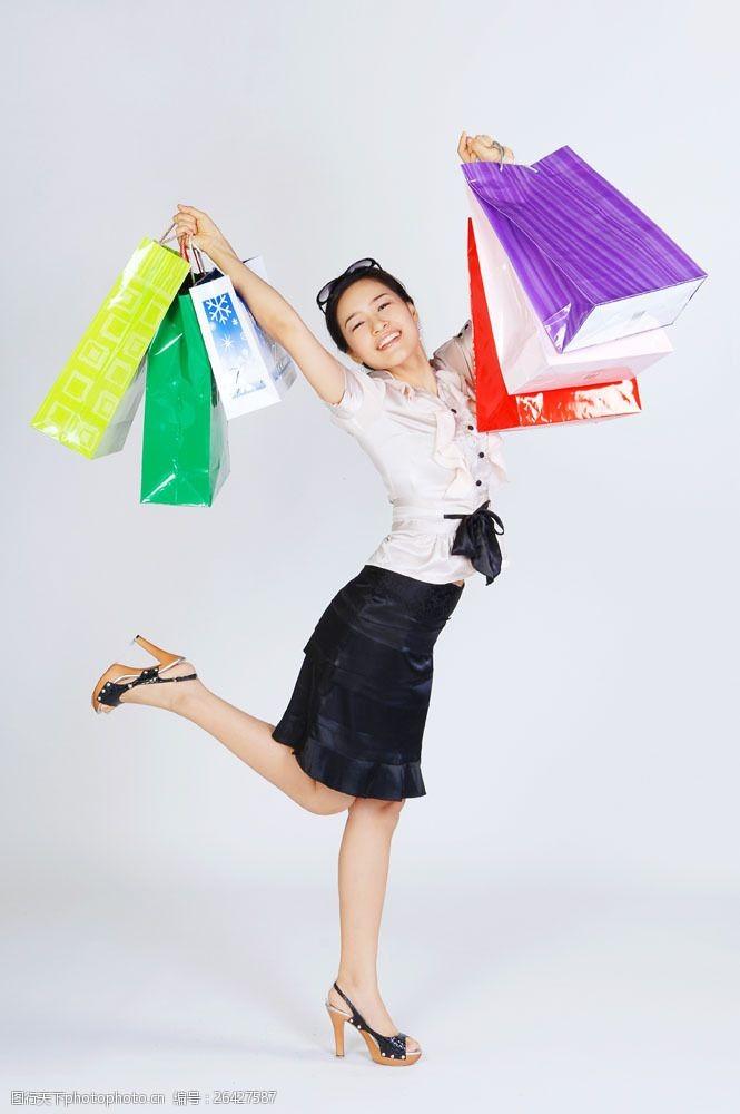 化妆品高清图片欢呼购物女性图片