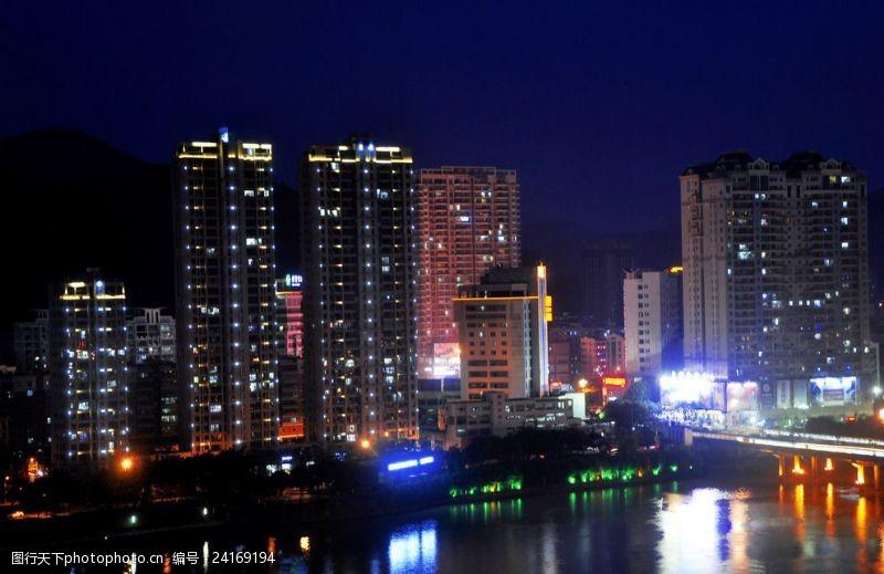 万家灯火城市夜背景