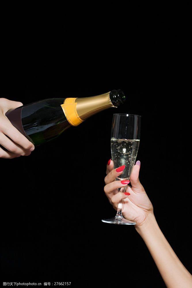 美容美体图片倒香槟喝的人图片