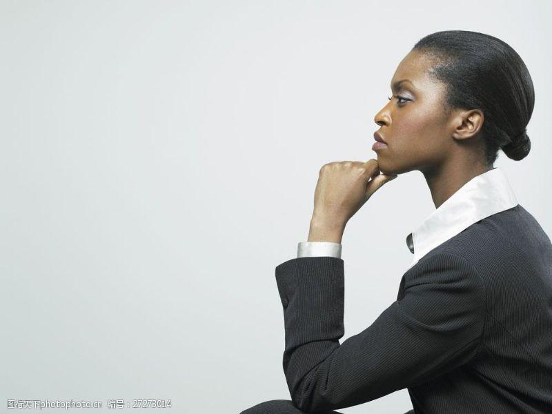 女性高清图片凝视前方商务美士图片