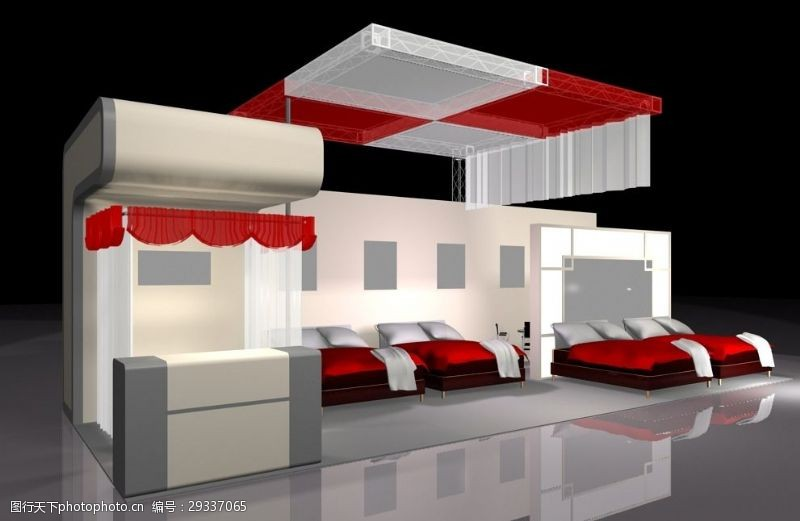 3d设计源文件展览展厅空间模型