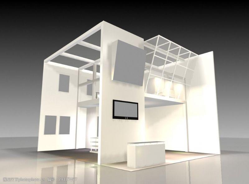 3d设计源文件展览展厅展台模型