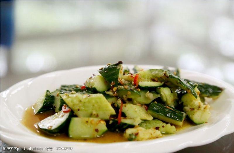 夏季蔬菜凉拌黄瓜图片