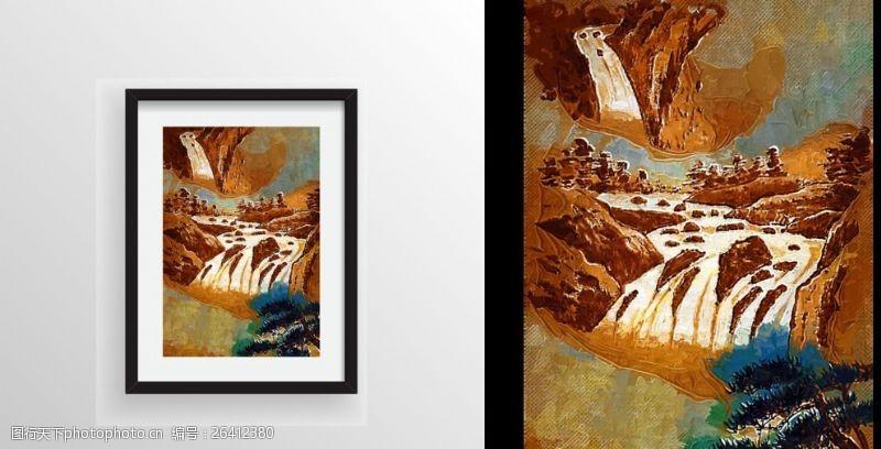 室内装饰用图山水风景绘画艺术