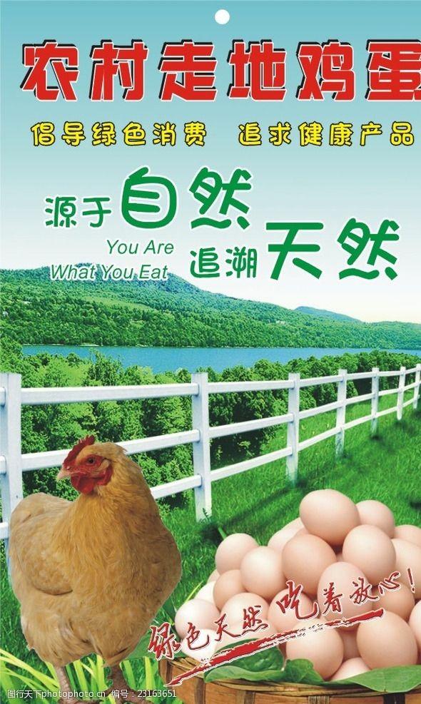 农村走地鸡蛋土鸡蛋吊牌标签名片