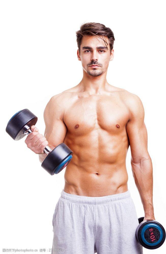 肌肉展示健身男性图片