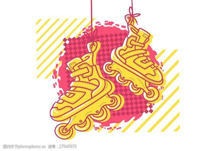 健身鞋复古粉红辊叶片