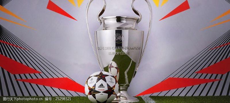 欧冠比赛用球广告图片