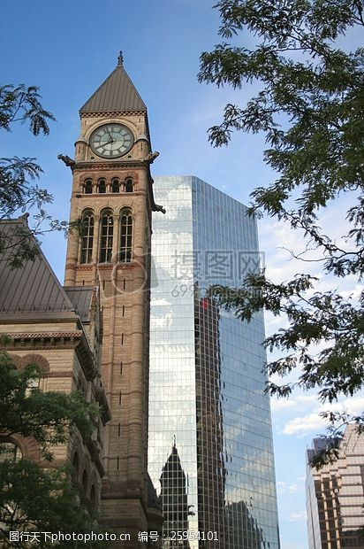 老市区蓝色,天空,老,市区,多伦多,镇,大厅,老,城市