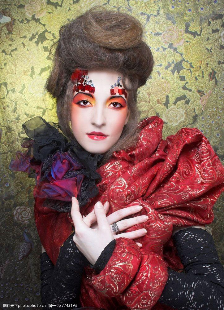 浓妆美女化妆造型模特美女图片