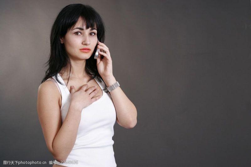 女性高清图片打电话的美女图片