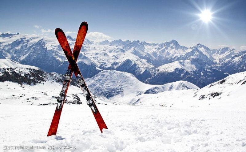 滑雪板冬季运动滑雪场雪橇版图片