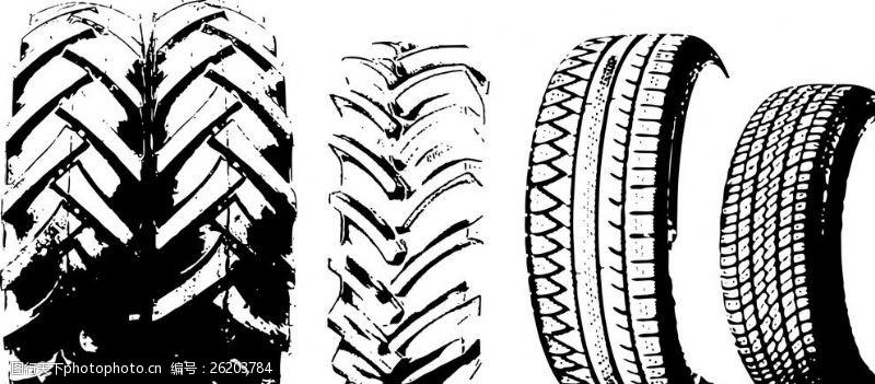 车印轮胎印