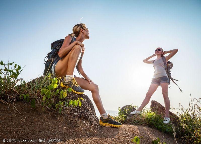 自然探险户外徒步旅行