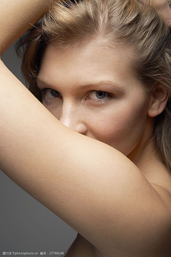 眼部特写性感外国美女光滑肌肤图片