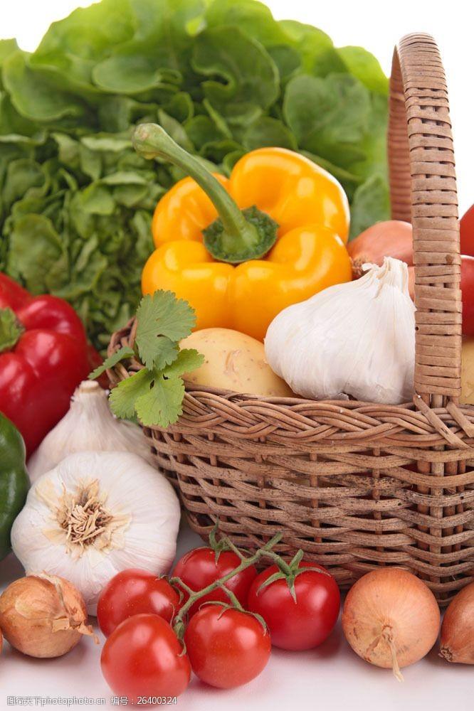 蓝色蔬菜篮子里的蔬菜图片