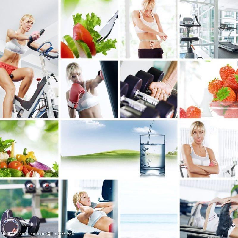 女性健康生活健身的健康女性图片