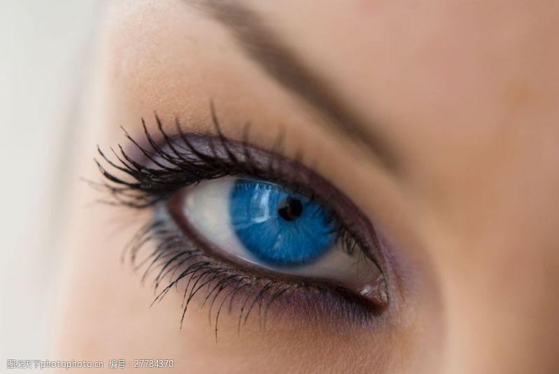 眼部特写蓝眼睛特写图片